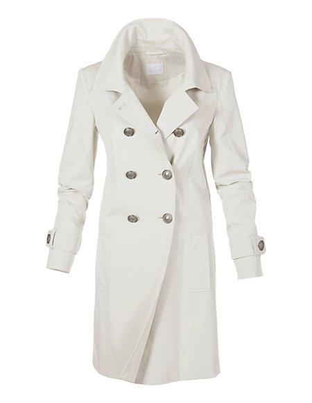 MADELEINE  Korte mantel Dames naturel / lichtblauw