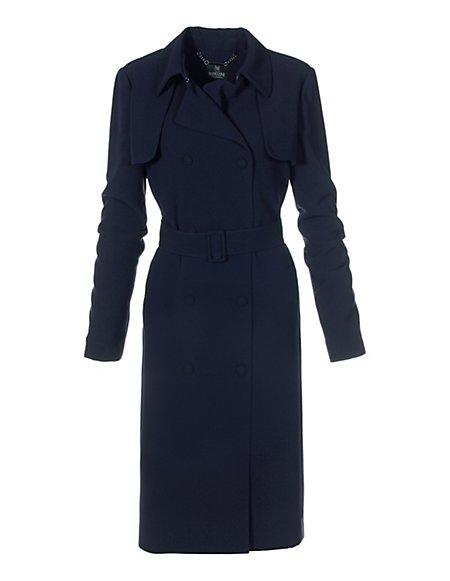 MADELEINE Kurzer Damen Trenchcoat Damen marine / blau