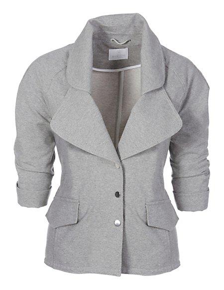 MADELEINE  Jersey blazer Dames zilvergrijs gemêleerd / grijs