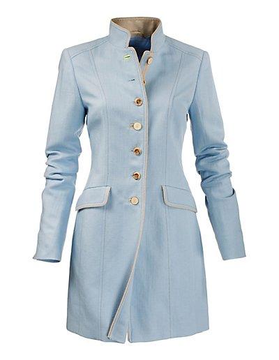 MADELEINE  Redingote femme bleu layette / bleu