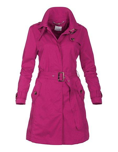 Kurzer Trenchcoat Damen fuchsia / pink