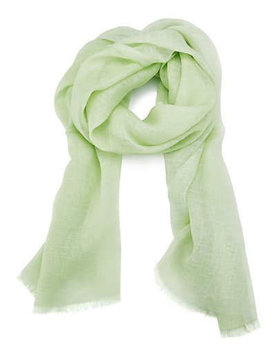 MADELEINE  Foulard femme vert amande / vert