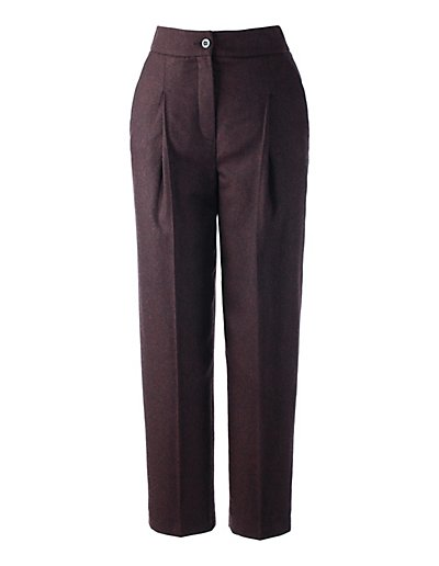 MADELEINE  Pantalon 7/8 femme bordeaux/multicolore / rouge