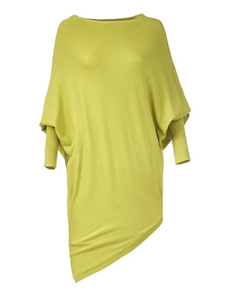 Kimonopullover Damen pistazie / grün