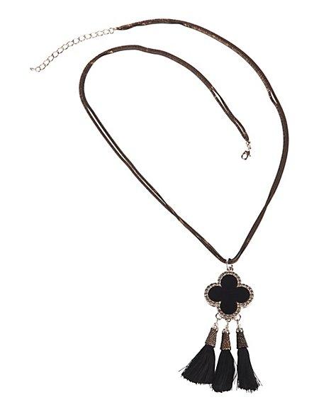 MADELEINE  Halsketting Dames zwart/goudkleurig / zwart