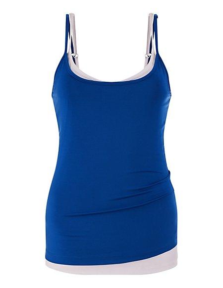 MADELEINE  Topje (set van 2 stuks) Dames azuurblauw/wit / blauw