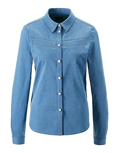 MADELEINE  Chemise en jean femme bleached / bleu