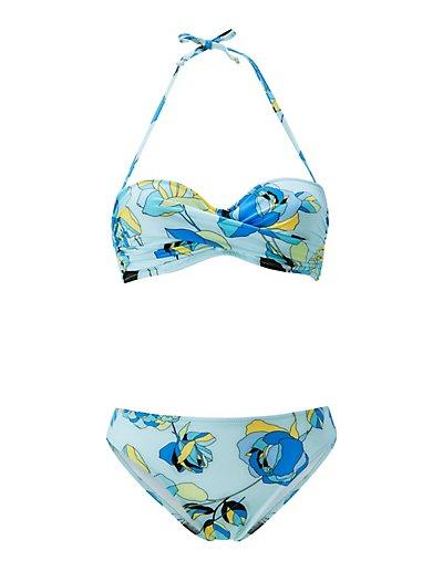 MADELEINE  Bikini femme bleu banquise/multicolore / bleu