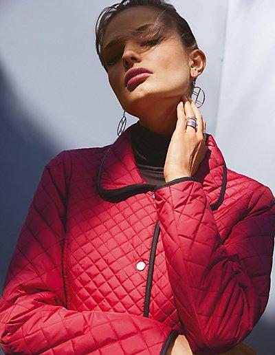 MADELEINE  Redingote femme rubis / rouge