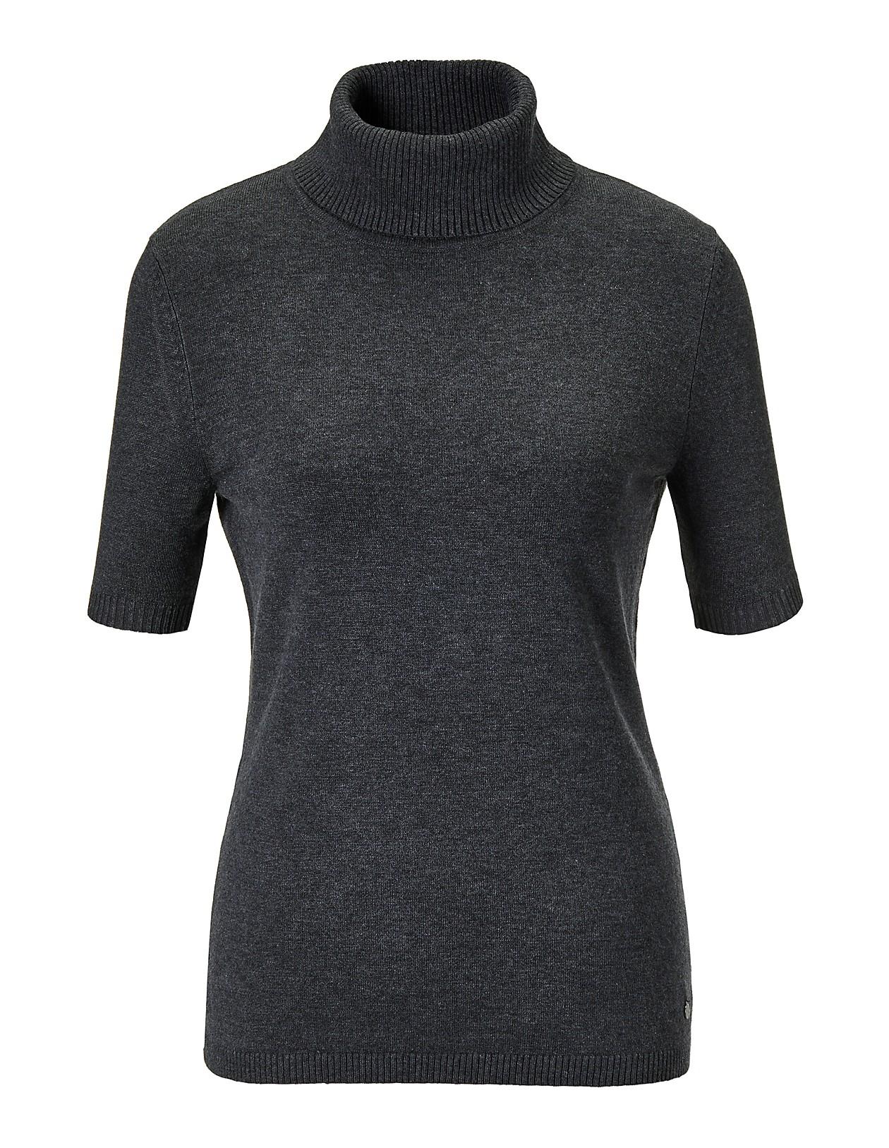 Qualität verfügbar heißester Verkauf Rollkragenpullover mit kurzem Arm, grau/melange, grau ...