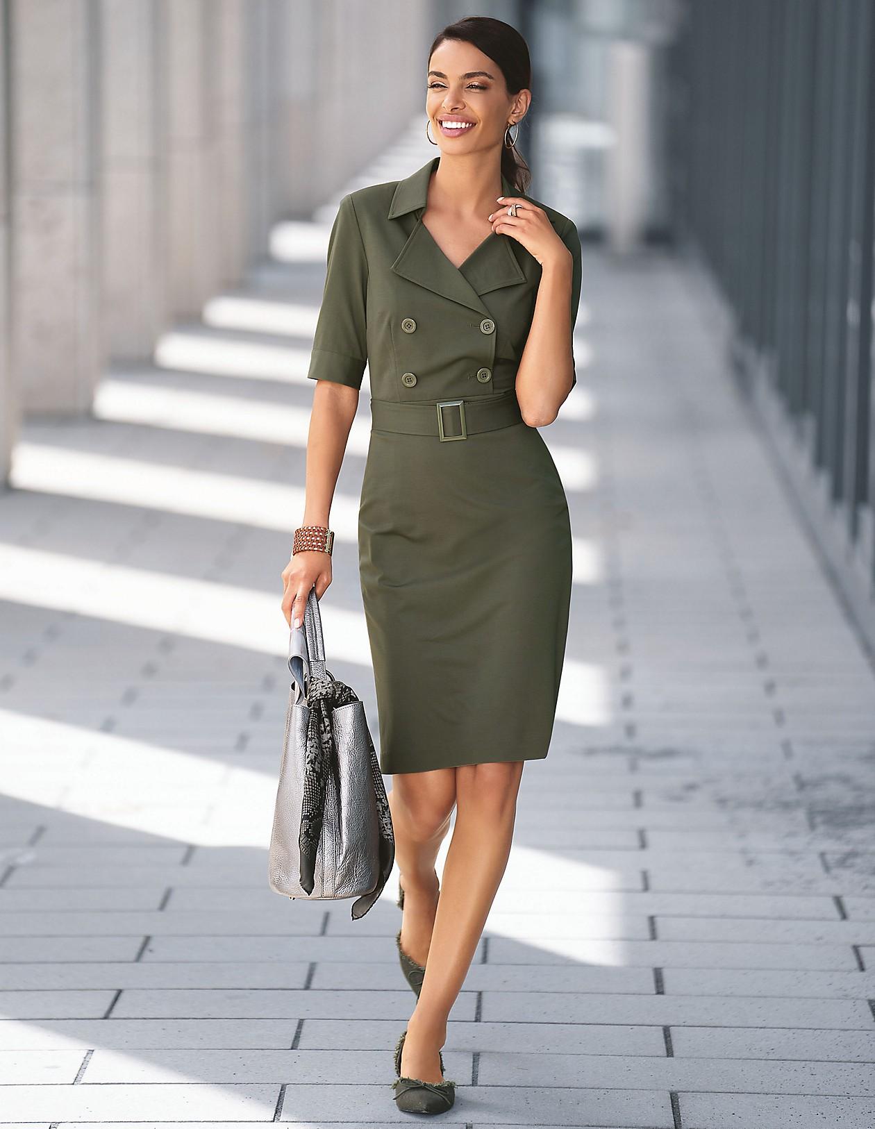 Safari-Kleid, efeugrün, grün  MADELEINE Mode Schweiz