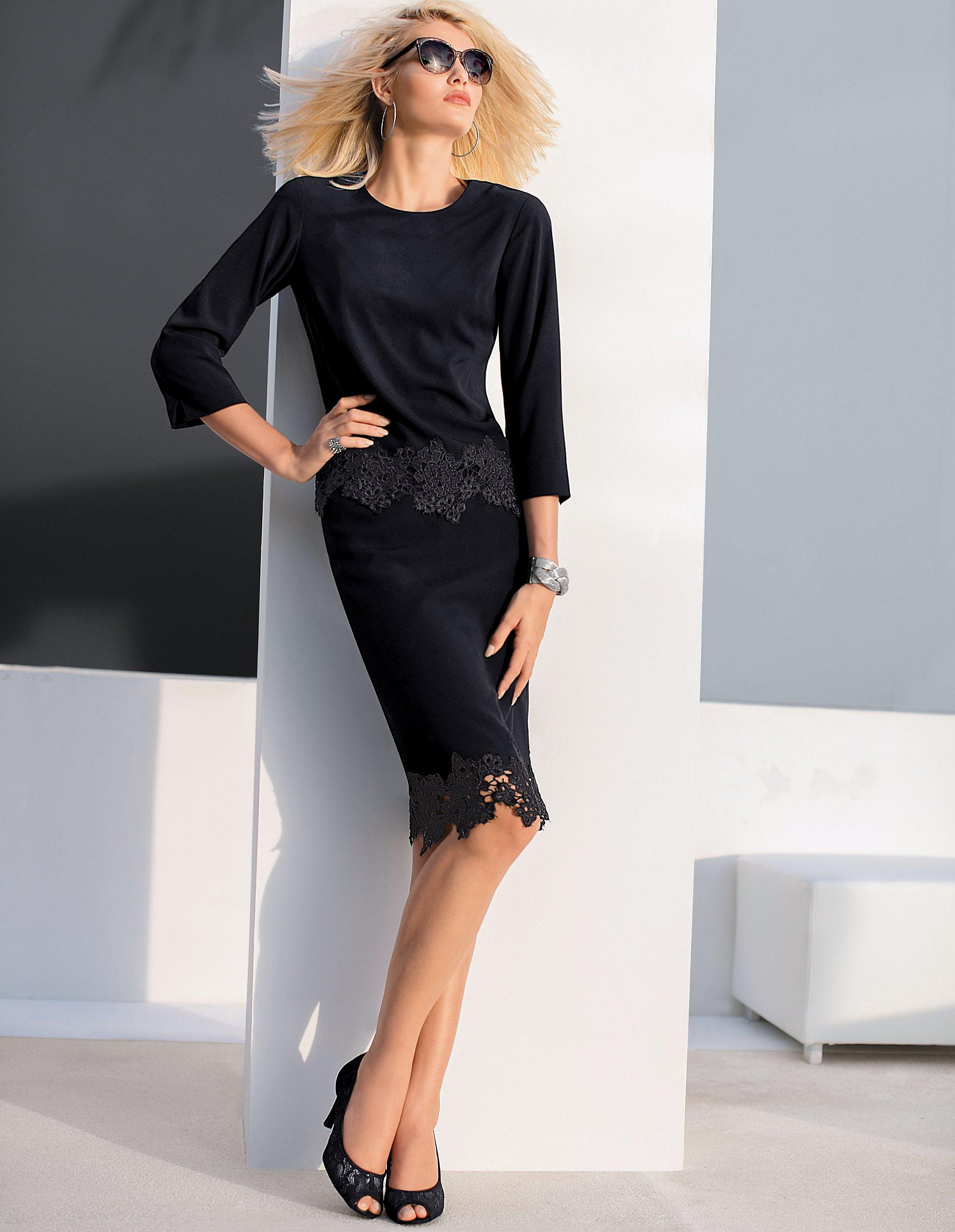 bluse mit spitze madeleine mode. Black Bedroom Furniture Sets. Home Design Ideas